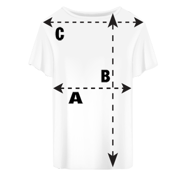 Youth's Shirt Sleeve T-Shirt Size Guide
