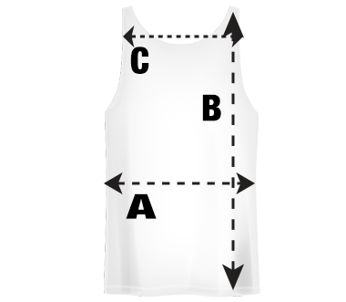 Mens Tank top T-Shirt Size Guide